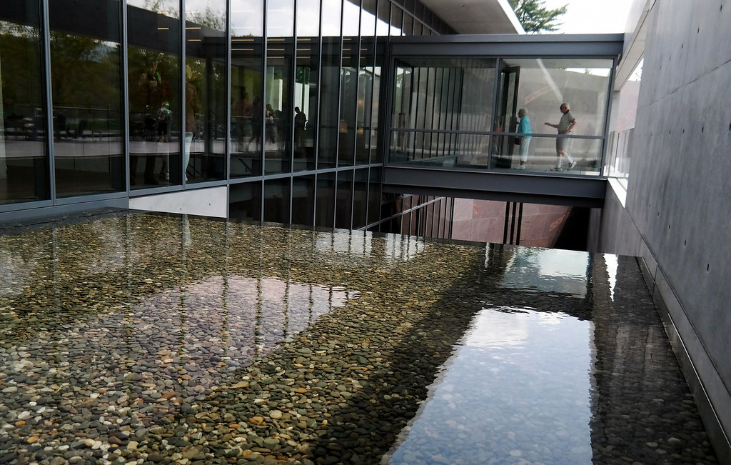 Description of . The new gallery space at the Clark Art Institute by Tadao Ando uses water features to incorporate the landscape into the spaces. Tuesday July 1, 2014.  Ben Garver / Berkshire Eagle Staff / photos.berkshireeagle.com