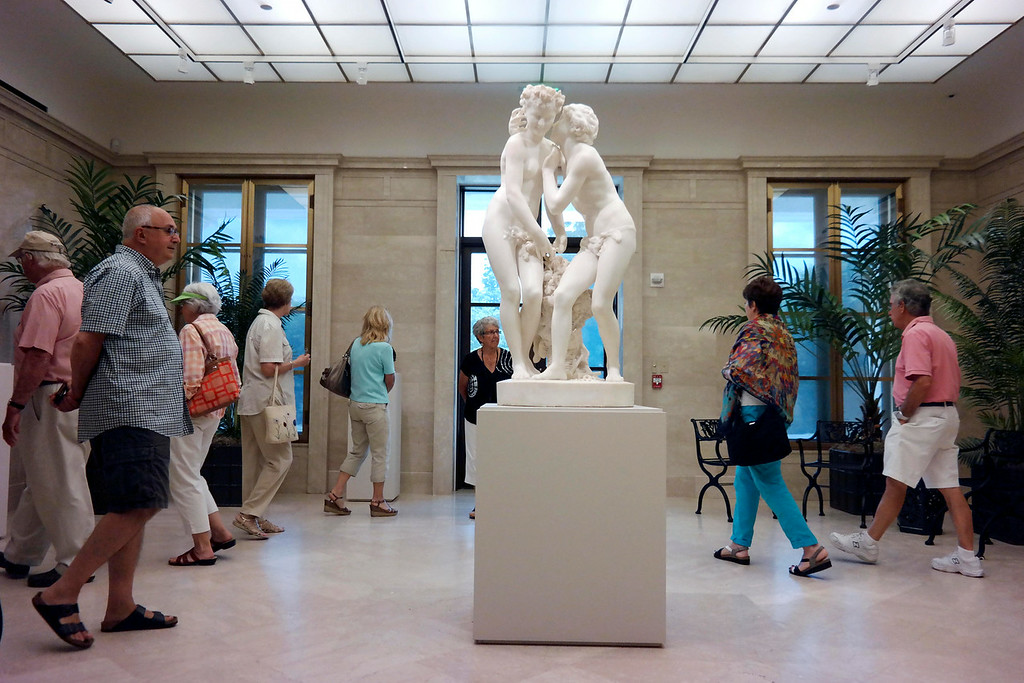 Description of . The origional entrance to the Clark Art Institure has been transformed into intimate galleries.  This gallery features Daphnis and Chloe by Jean-Baptiste Carpeaux.  Tuesday July 1, 2014. Ben Garver / Berkshire eagle Staff / photos.berkshireeagle.com