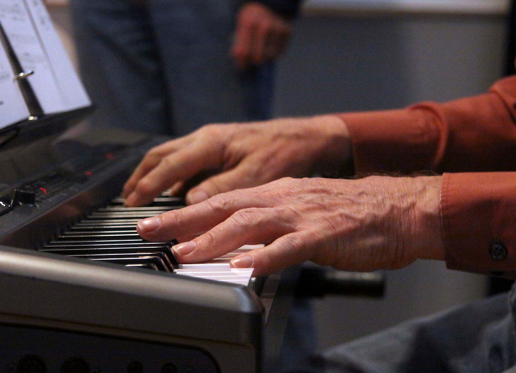 Description of . Pianist Bob Shepard of Dalton plays piano for The Town Players Cabaret group which rehearsed on Tuesday evening at the Whitney Center for the Arts. October 29th 2013 Holly Pelczynski/Berkshire Eagle Staff