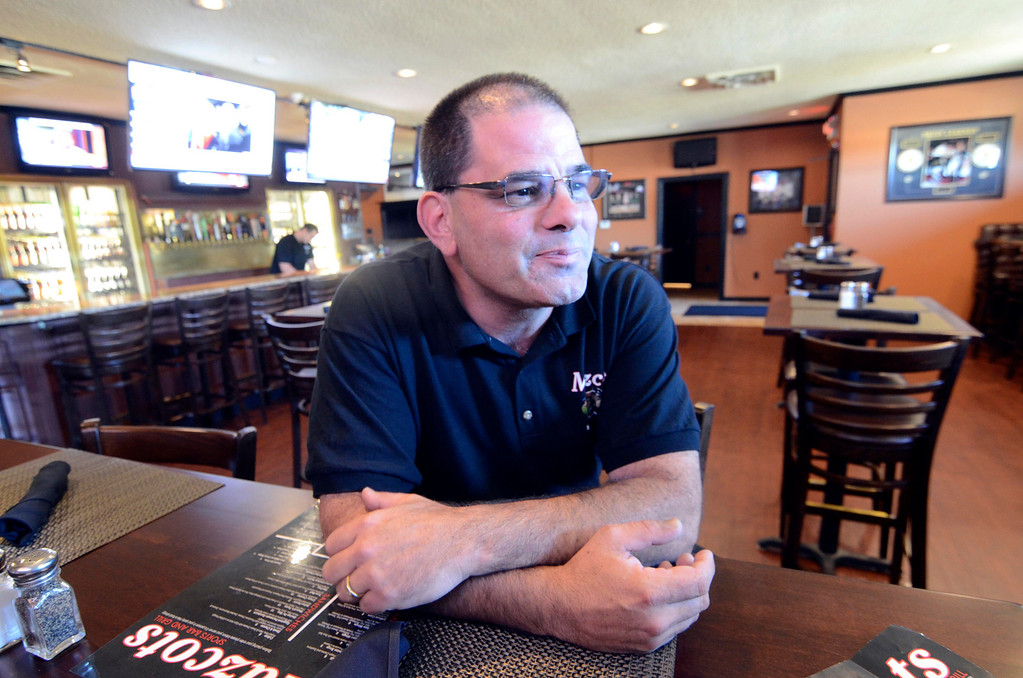 Description of . Tony Mazzeo at Mascots in Lenox, Friday September 20, 2013. Ben Garver / Berkshire Eagle Staff