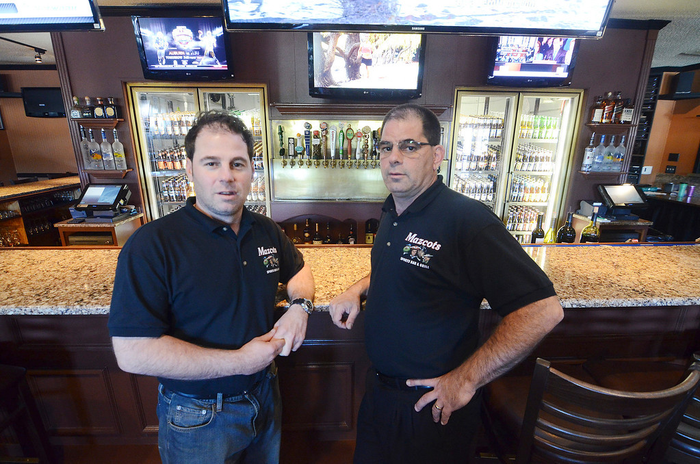 Description of . Mike and Tony Mazzeo have opened Mazcots, a family oriented sports bar on Pittsfield Road in Lenox.  Friday September 20, 2013. Ben Garver / Berkshire Eagle Staff