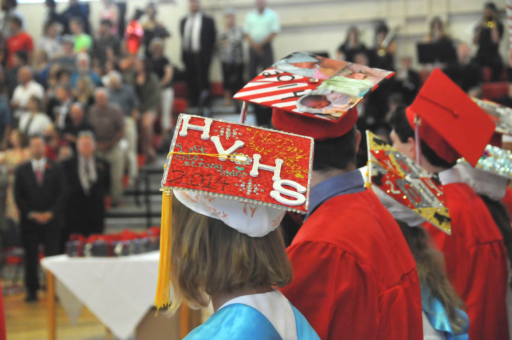 Description of . Hoosac Valley High School Class of 2014 during the commencement on Friday, June 6, 2014. (Scott Stafford/Berkshire Eagle Staff)
