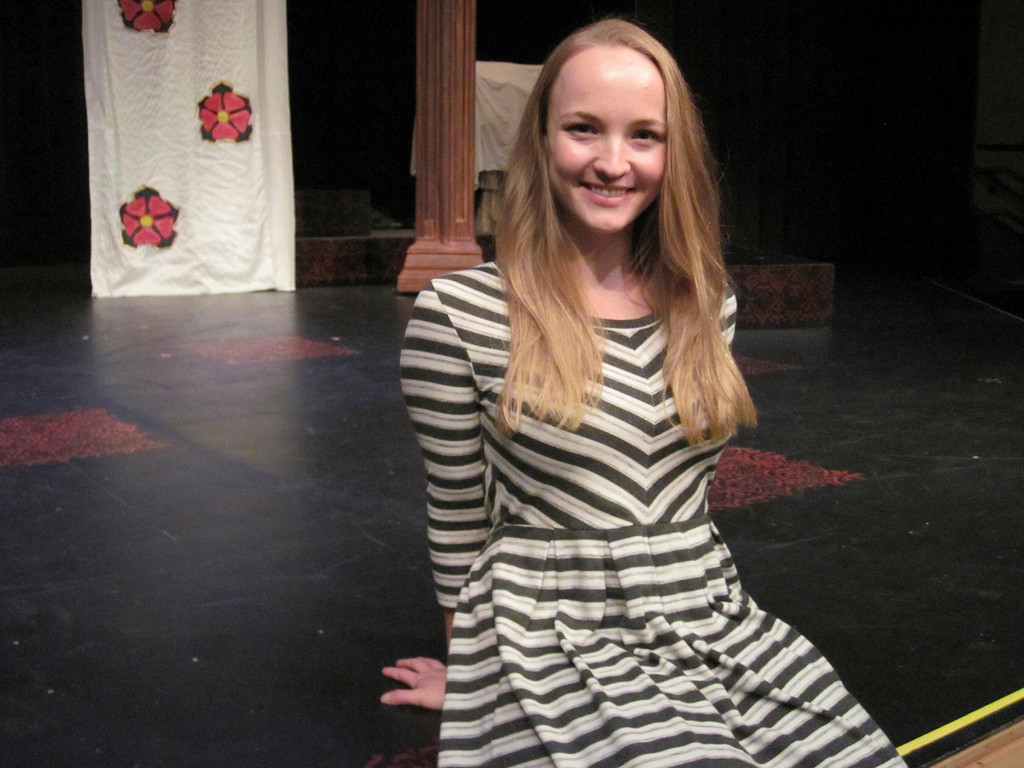 Description of . Annie Considine, a 2008 graduate of Lenox Memorial Middle and High School, returned to her alma mater this year to co-direct a production of