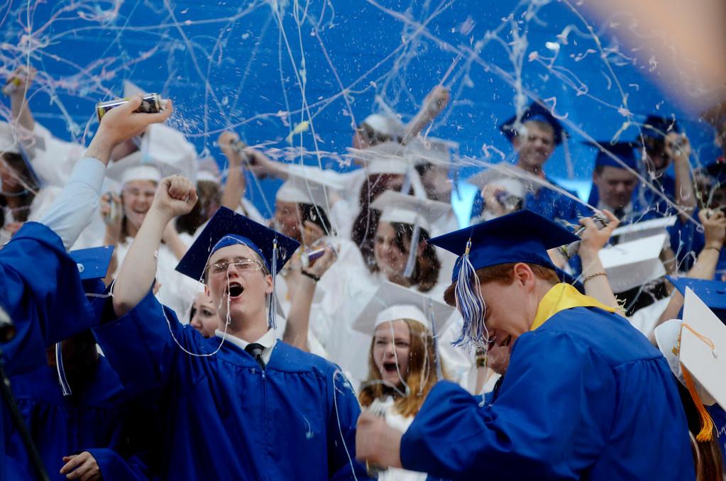 Description of . Graduates celebrate at Wahconah Regional High Schooo.  June 8 2014 Caroline Bonnivier Snyder