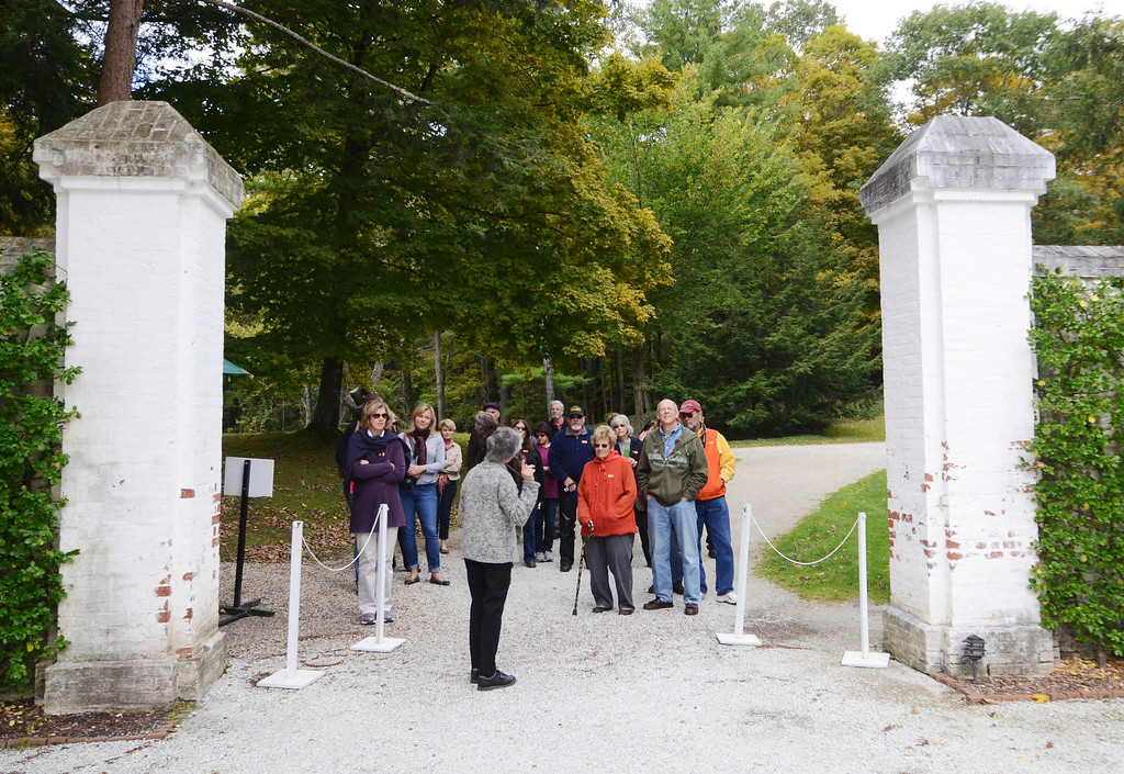 Description of . A tour group heads into the Mount Restoration in Lenox, Monday September 23, 2013. Ben Garver / Berkshire Eagle Staff