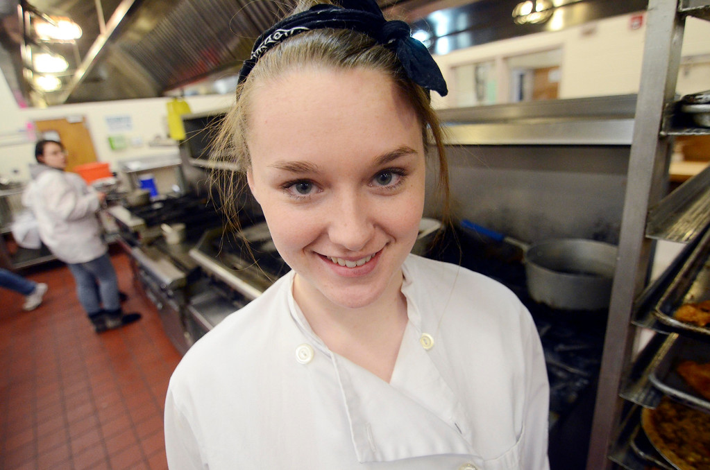 Description of . Kate Proudy, of Taconic High School, will participate in a Chopped competition Wednesday Feb. 26, 2014.  Photo by Ben Garver / Berkshire Eagle Staff