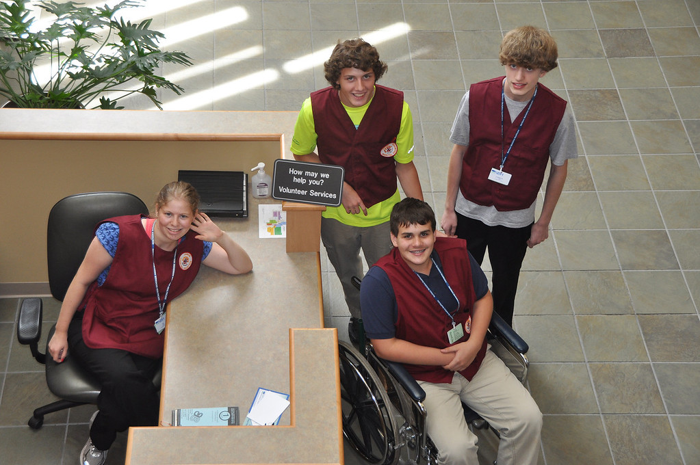 Description of . NARH junior volunteers are from left, DJ Ross, 17, Travis Ciempa, 15, Blaize Pandell, 13 and Andrew Corsi, 15. August 1, 2012. File photo by Gillian Jones
