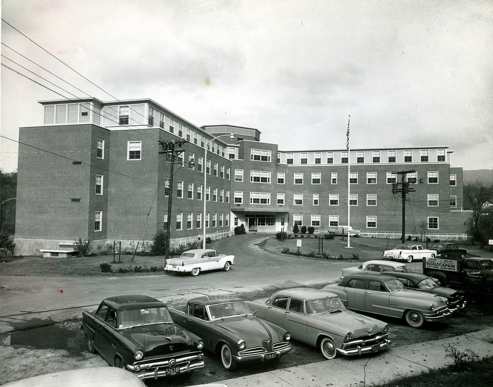 Description of . Eagle Archives          Published 02/01/2009  Then and now North Adams Regional Hospital, shown above in the 1950s, was opened with 12 beds in 1885 after a train collision three years earlier overwhelmed the city's medical facilities and made clear the need for a hospital. The campus has expanded over the years and is still in operation today.