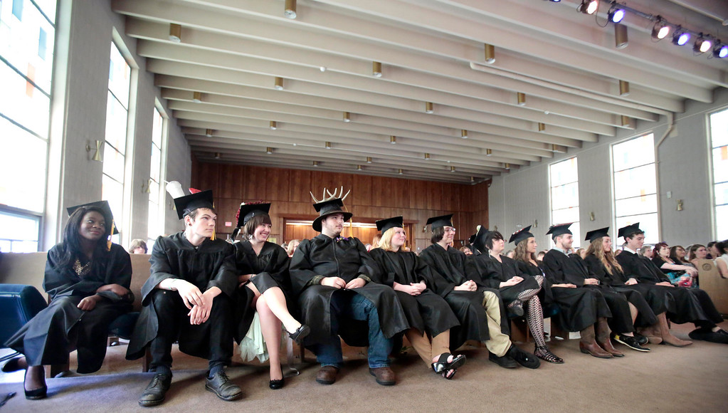 Description of . The BART charter high school graduation at MCLA in North Adams. Saturday, June 7, 2014. Stephanie Zollshan / Berkshire Eagle Staff / photos.berkshireeagle.com