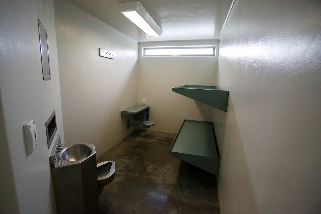 Description of . A cell in the H-Pod cell block with old lighting is dark and bulbs must be changed often. The Berkshire County House of Correction has received a large grant for energy improvement, including a photo voltaic field, a solar thermal array, and LED lighting for the whole facility. Thursday, August 14, 2014. Stephanie Zollshan / Berkshire Eagle Staff / photos.berkshireeagle.com