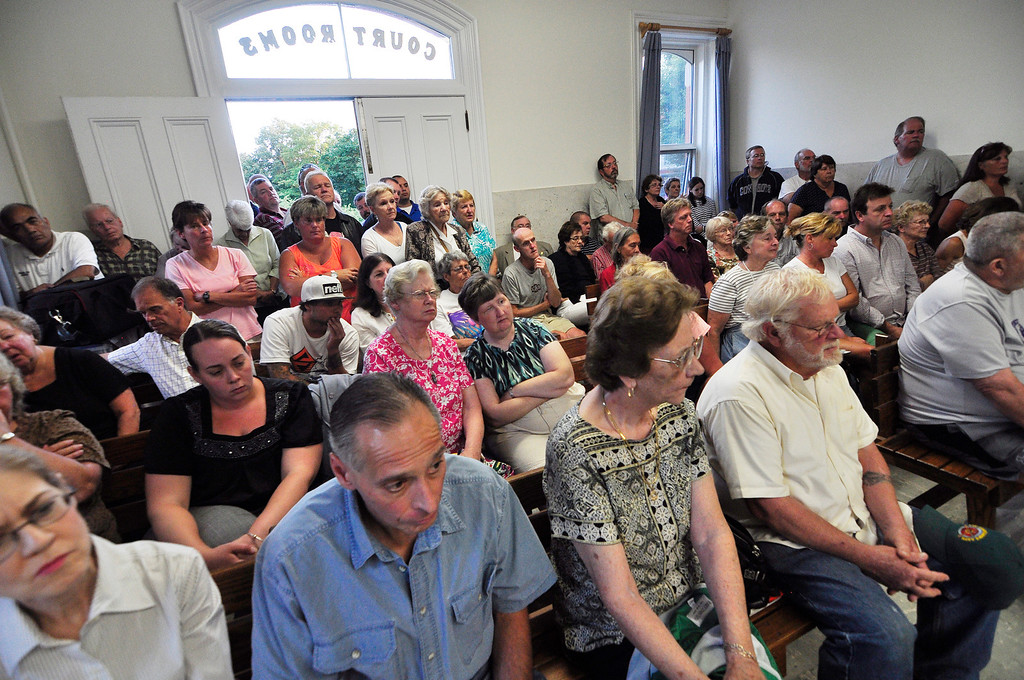 Description of . Council chambers were standing room only at the Lee Town Hall on Tuesday evening for the public hearing regarding police chief Joseph Buffis.  Tuesday August 20 2013 Caroline Bonnivier Snyder / Berkshire Eagle Staff