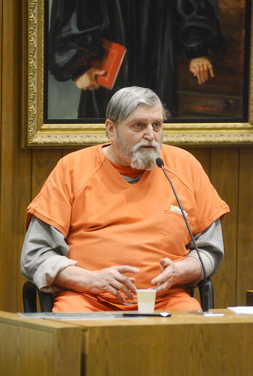 Description of . David Casey is examined by Berkshire District Attorney David Capeless as Casey testifies in the Adam Hall trial in Springfield on Wednesday, January, 22, 2014. Gillian Jones/Berkshire Eagle Staff