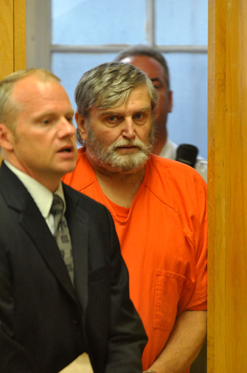 Description of . David Casey is arraigned in Berkshire District Court in Pittsfield on charges to being an accessory after the fact in the recent triple murders.  Mon Sept 18, 2011 (GARVER)