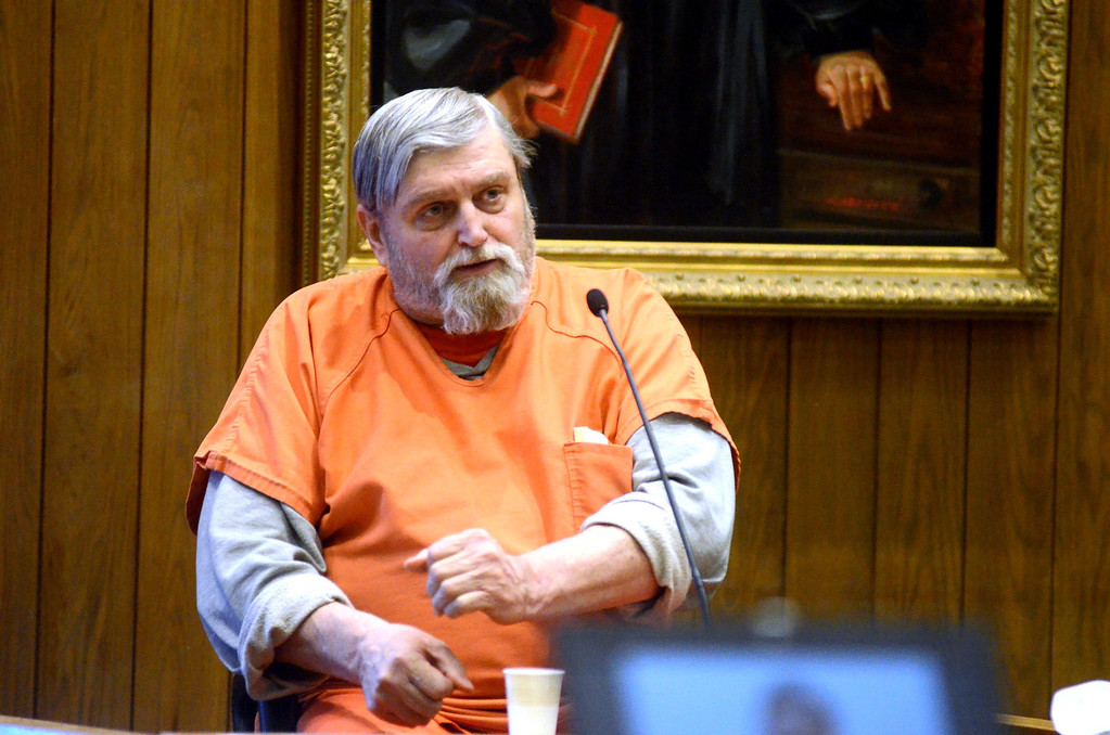 Description of . David Casey testifies in the Adam Hall trial in Springfield on Wednesday, January, 22, 2014. Gillian Jones/Berkshire Eagle Staff