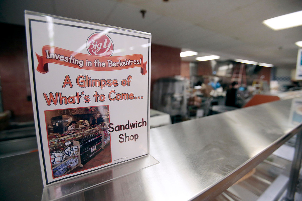 . One of the new features of the $1 million overhaul of the Big Y supermarket in North Adams, a custom sandwich shop has been added. Big Y stores in Pittsfield, Adams, and North Adams have been undergoing major renovations. Monday, November 4, 2013. (Stephanie Zollshan | Berkshire Eagle Staff)