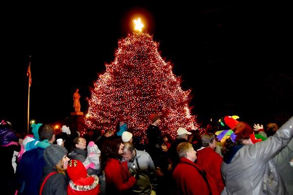 Christmas tree lighting in North Adams
