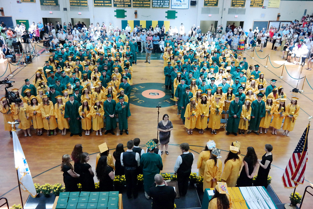 . The Graduating Class of Taconic High School awaits graduation, Sunday June 8, 2014.  Ben Garver / Berkshire Eagle Staff / photos.berkshireeagle.com