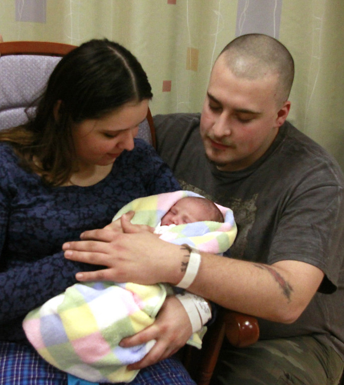 . Kelsey Sprowson and Russell Cote welcome their new daughterJayden Ann -Phyllis Cote born January 2nd  at 12:04 AM weighing in at 7Lbs 1 Ounce and 19 1/2 inches long. She is the New Years Baby of The North Adams Regional Hospital. Holly Pelczynski/North Adams Transcript. 1.2.2011
