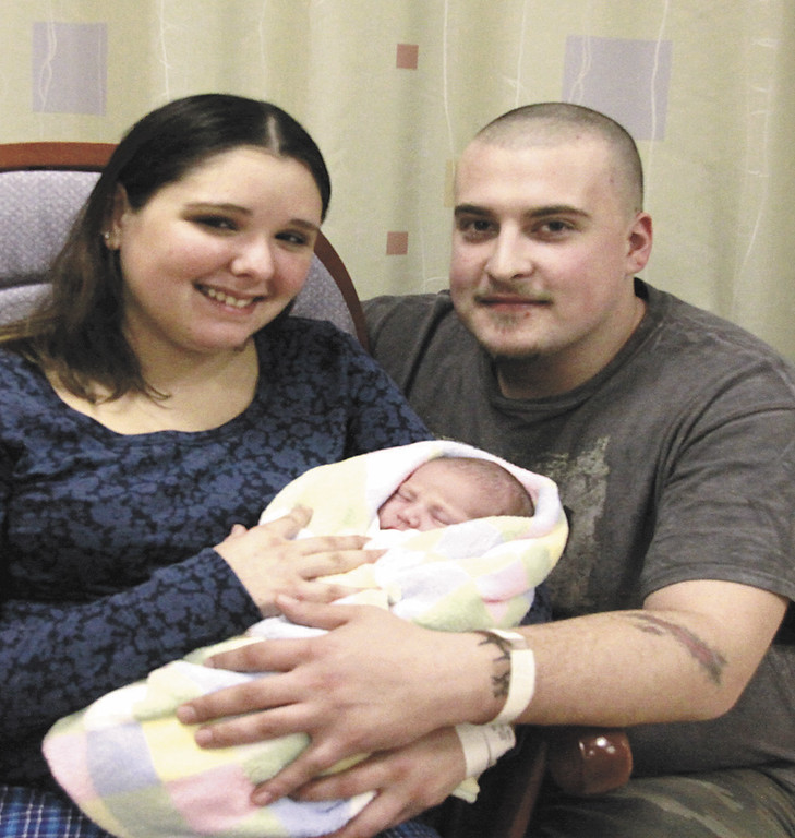. Russell Cote and Kelsey Sprowson welcome their daughter Jayden Ann -Phyllis Cote born January 2nd  at 12:04 AM weighing in at 7Lbs 1 Ounce and 19 1/2 inches long. She is the New Years Baby of The North Adams Regional Hospital. Holly Pelczynski/North Adams Transcript. 1.2.2011