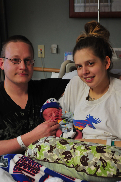 . Sarah Howard/North Adams Transcript  Steve Lesage and Molly Downing welcomed  7 pound 7 ounce baby Harley Downing into the world early Tuesday morning at 5:55 am.  Harley is the the first baby of the new year at North Adams Regional Hospital in 2013.
