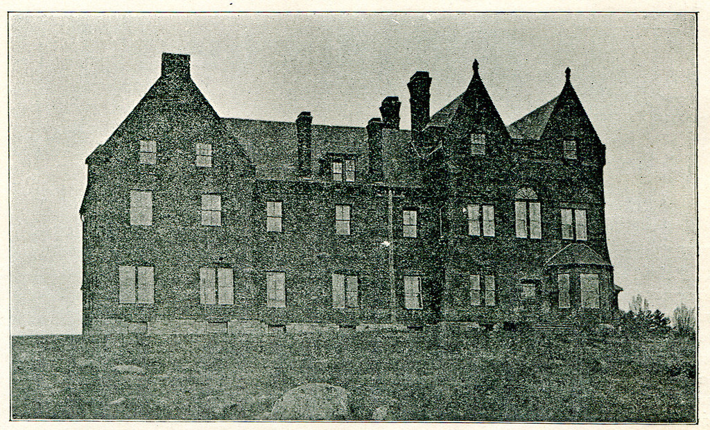 """. This photograph was published in an 1898 Transcript publication with the title \""""The Hospital\"""""""