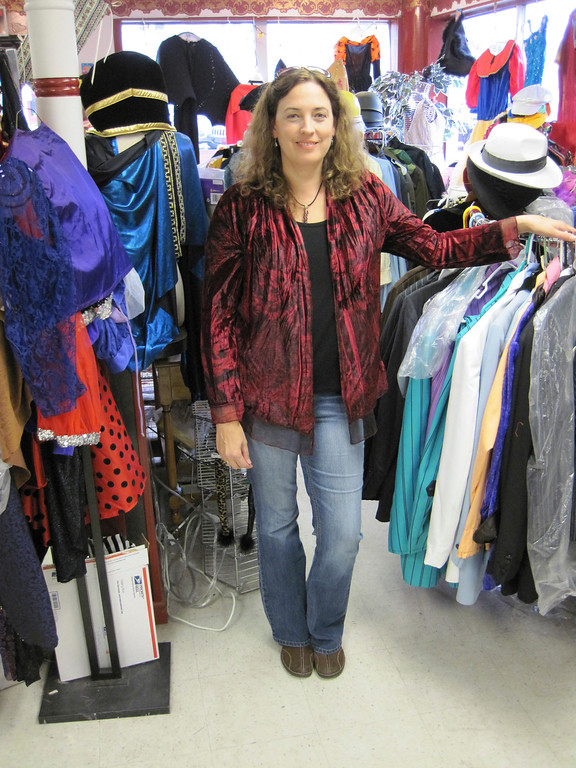 . Kara Demler owns Berkshire Costume Company on West Housatonic Street in Pittsfield. She also manages Berkshire Children\'s Theater company, and is constantly creating costumes and characters. Jenn Smith/Berkshire Eagle Staff Oct. 18, 2013