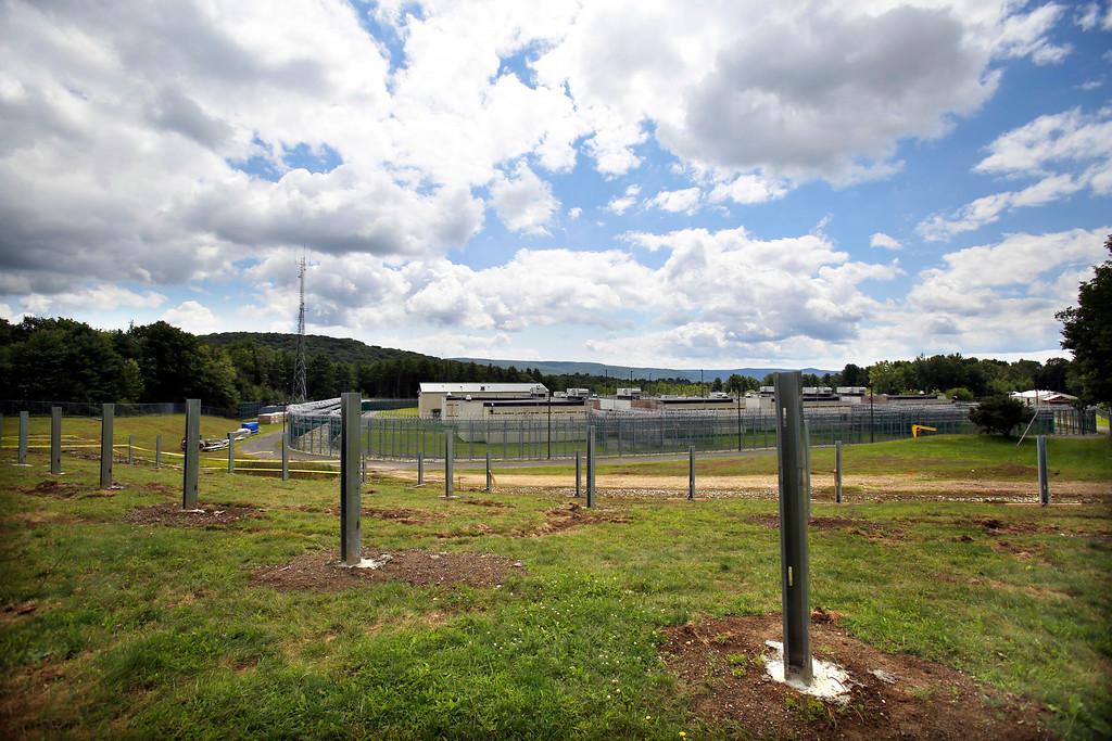 . The Berkshire County House of Correction has received a large grant for energy improvement, including a photo voltaic field that is being built on a hill behind the facility. Thursday, August 14, 2014. Stephanie Zollshan / Berkshire Eagle Staff / photos.berkshireeagle.com