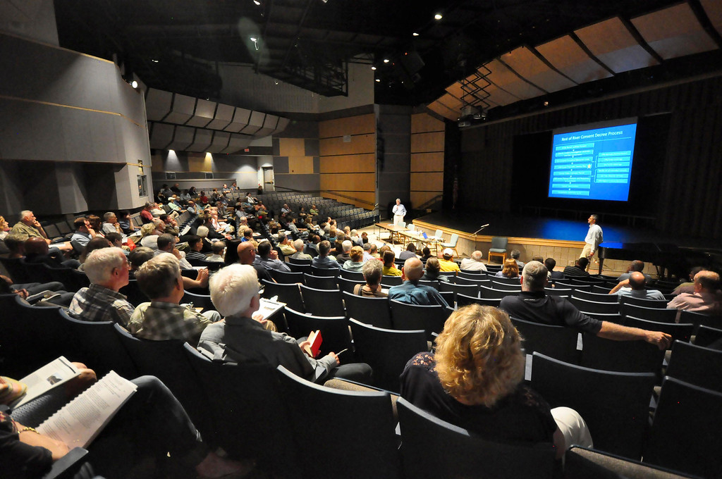 . Over 140 people attend a meeting on the PCB clean up of the Housatonic River at Lenox Memorial Middle and High School on East Street on Wednesday, June, 18, 2014. Gillian Jones / Berkshire Eagle Staff / photos.berkshireeagle.com