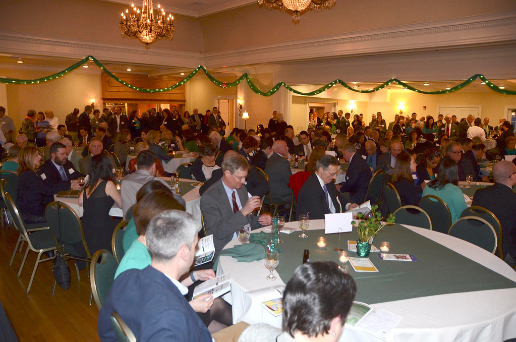 """. Those in attendance at the 13th Annual Robert \""""Bees\"""" Prendergast St. Patrick\'s Reception, a benefit for Hillcrest Educational Centers, Inc. at the Country Club of Pittsfield on Thursday, March 20, 2014. Gillian Jones / Berkshire Eagle Staff / photos.berkshireeagle.com"""