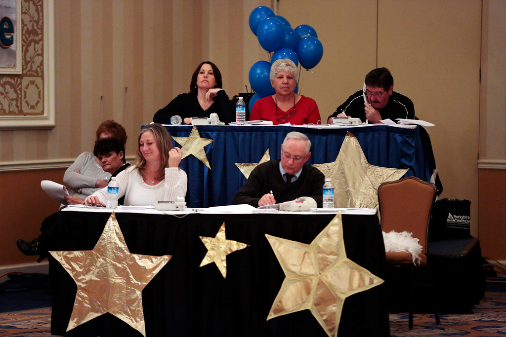 . Donation calls are answered at the United Cerebral Palsy of the Berkshires telethon at the Crowne Plaza in Pittsfield. Sunday, January 26, 2014. (Stephanie Zollshan | Berkshire Eagle Staff)