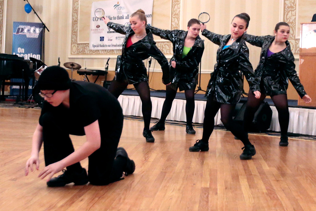 . Karen\'s School of Dance performs at the United Cerebral Palsy of the Berkshires telethon at the Crowne Plaza in Pittsfield. Sunday, January 26, 2014. (Stephanie Zollshan | Berkshire Eagle Staff)
