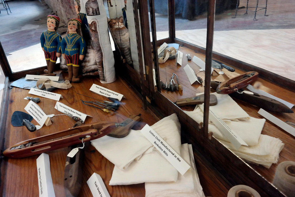 """. Artifacts from the Berkshire Mills in Adams are on display at \""""The Mill Children\"""" exhibit in Adams. Wednesday Aug. 6, 2014. Ben Garver / Berkshire Eagle Staff / photos.berkshireeagle.com"""