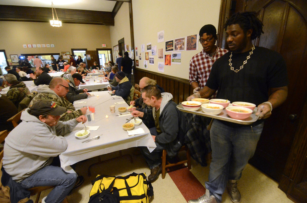 . The First United Methodist Church in Pittsfield held a lunch and day of service in honor of Martin Luther King Jr, on Monday, Jan. 20, 2014.  (Ben Garver / Berkshire Eagle Staff)