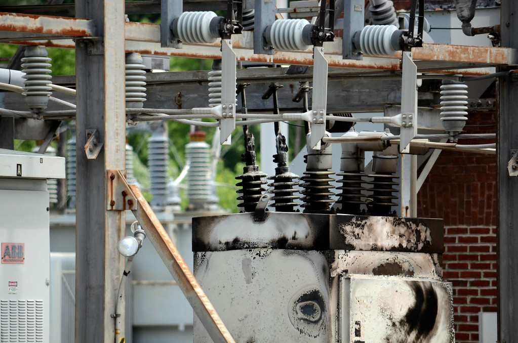 . A fire in a switching unit at the Adams substation caused a blackout in North Berkshie County. Tuesday July 8, 2014.  Ben Garver / Berkshire Eagle Staff / photos.berkshireeagle.com