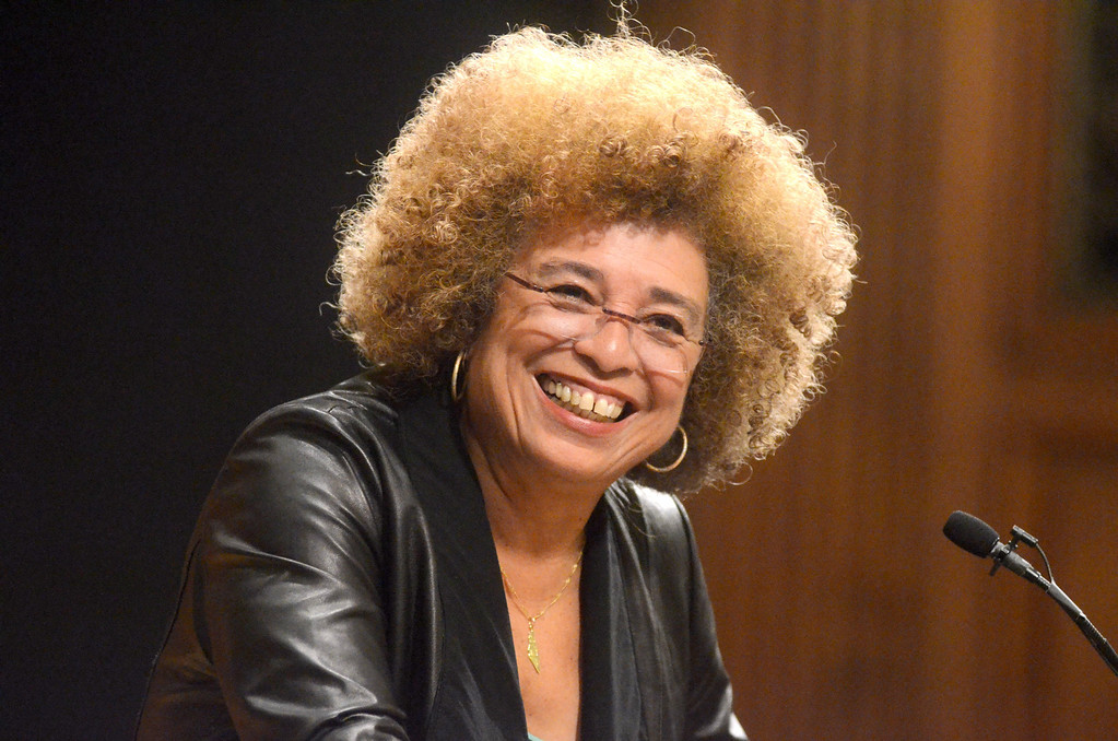 . Political activist and scholar Angela Davis presents a lecture titled, \'Leadership in the 21st Century,\' in Chapin Hall at Williams College on Saturday, April, 12, 2014. Gillian Jones / Berkshire Eagle Staff / photos.berkshireeagle.com