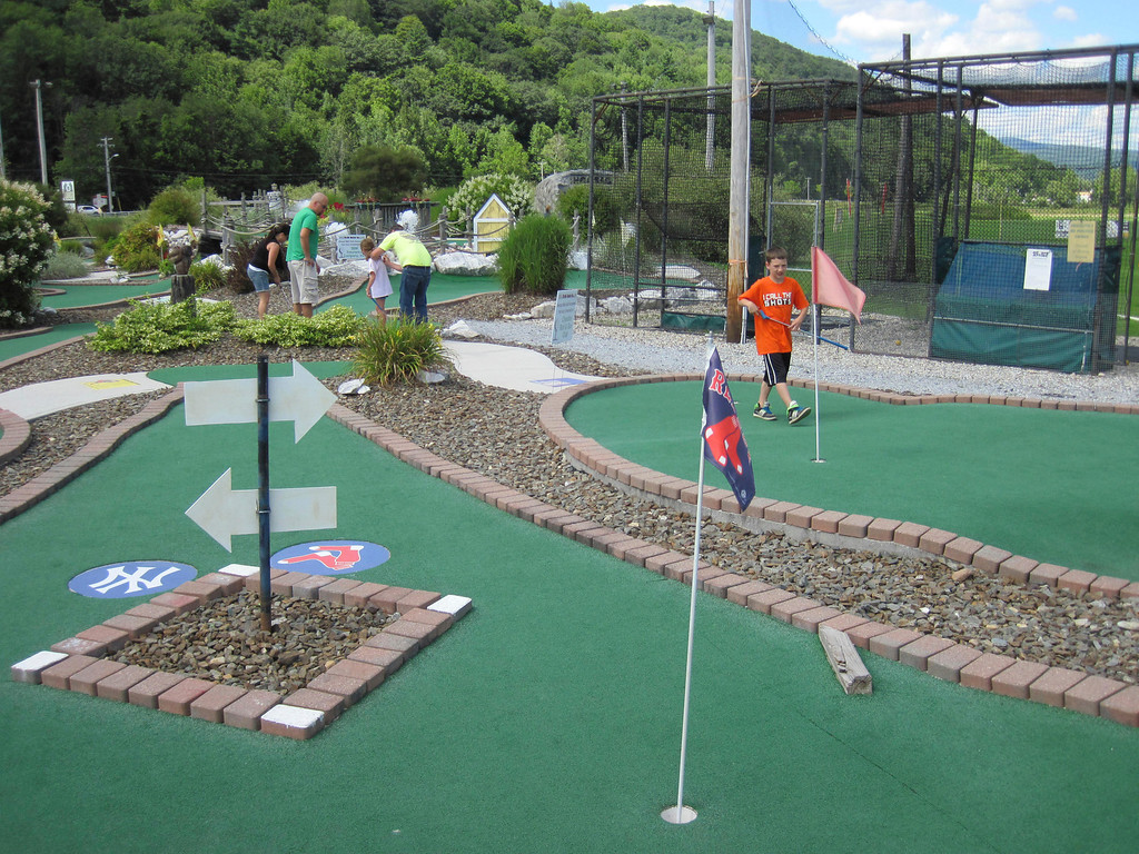 . The Adams Youth Center held its annual family fun day and mini-golf tournament on Sunday at The Range in North Adams. Jenn Smith/Berkshire Eagle Staff Sunday, Aug. 11, 2013