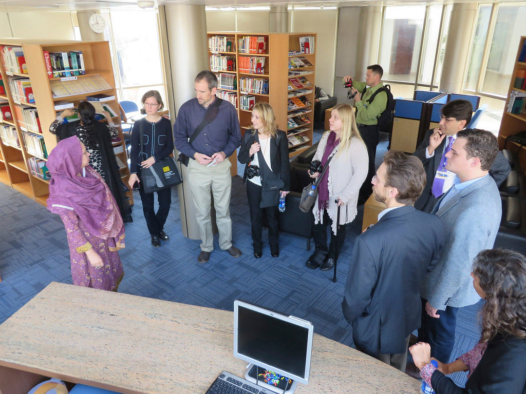 . U.S. reporters traveling with an exchange program of the International Center for Journalists visit the Karachi School for Business & Leadership in Pakistan. KSBL offers MBA programs for students and working professionals. Jenn Smith/Special to The Eagle