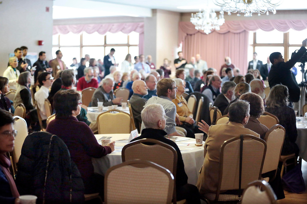 . Hundreds attend a Democratic party gubernatorial candidate meet-and-greet held by the Berkshire Brigades at the ITAM lodge in Pittsfield. Sunday, January 26, 2014. (Stephanie Zollshan | Berkshire Eagle Staff)