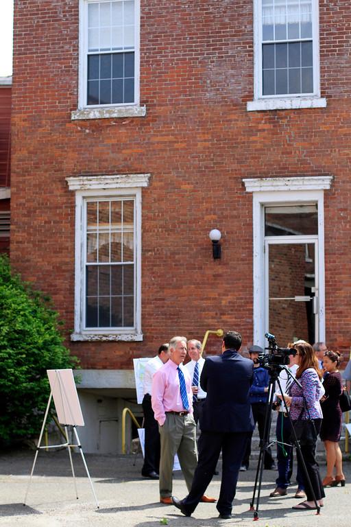 . Congressman Richard Neal announces a $115,000 EPA Brownfield Grant for the Eagle Mill Complex in Lee on Tuesday, June 17, 2014. Stephanie Zollshan / Berkshire Eagle Staff / photos.berkshireeagle.com
