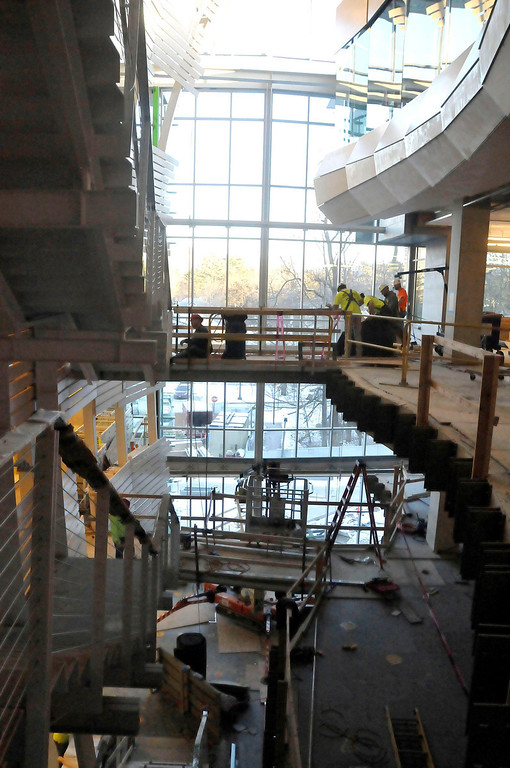 . The new library on Williams College campus is nearing completion. It is expected to open by mid summer. Wednesday, Jan. 23, 2014 (Scott Stafford/Berkshire Eagle Staff)