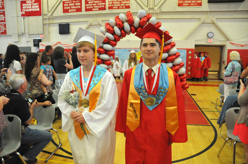 . Hoosac Valley High School Class of 2014 enters the gym during the commencement on Friday, June 6, 2014. (Scott Stafford/Berkshire Eagle Staff)