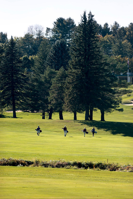 . Golfers take to the fairway during a golf match between Wahconah and Lenox at Wahconah Country Club in Dalton. Monday, September 30, 2013. Stephanie Zollshan/Berkshire Eagle Staff.