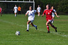 Drury's Celene Koperak and Greylock's Sarah Stripp chase the ball. (Gillian Jones/North Adams Transcript)