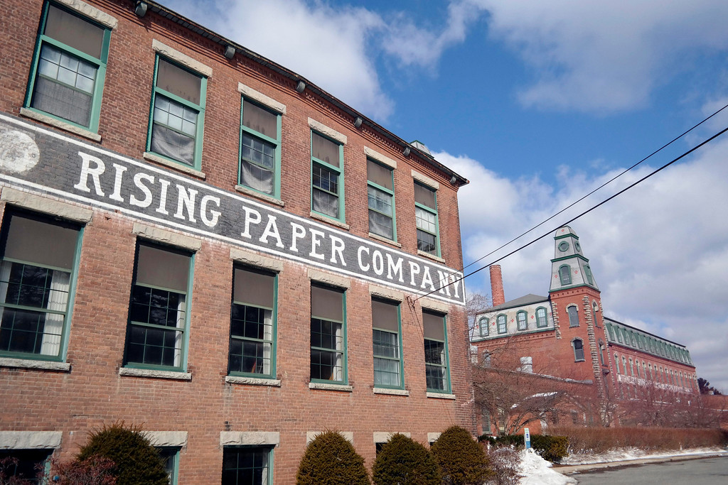 . The 1873 Rising Paper Mill in Housatonic is now owned by the Hazen Paper Company, Sunday March 9, 2014.  Ben Garver / Berkshire Eagle Staff / photos.berkshireeagle.com