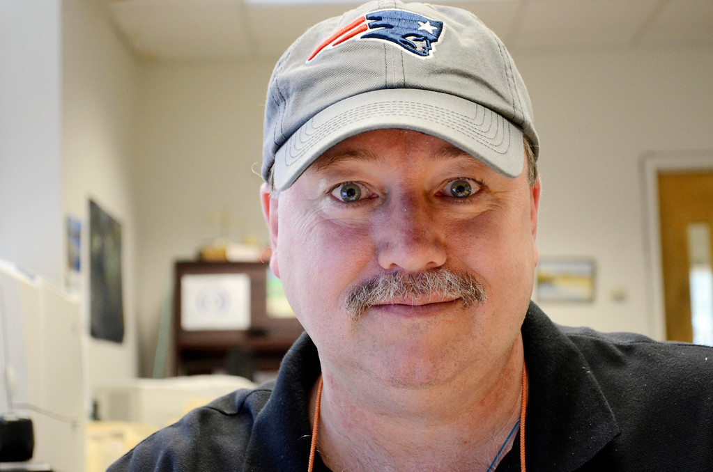 . Kevin St. Jock works at Onyx SPecialty Papers in  Lee, Friday Feb. 21, 2013.  Photo by Ben Garver / Berkshire Eagle Staff