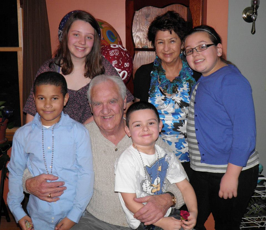 """. \""""The best grandparents a kid could ask for. Special because you never forget a birthday, holiday, or event. We appreciate everything you do and love you! Love Hollie, Sincere, Carmelo, Giada, Camryn and Shaelyn\"""" Photo submitted by Hollie Roberts."""